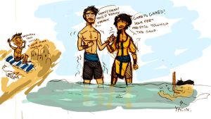 A Day At The Beach by eokani