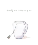 Actually wine is my cup of tea by Skizzenbuch94