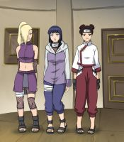 Ino, Hinata and TenTen by lostonezero