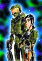 Master Chief and Lt. Parisa by Taipu556