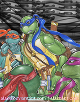 Turtle Bros Ready to Battle by alaer