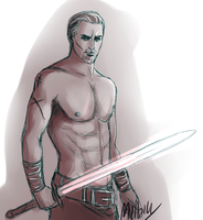 Another Cullen sexy doodle by MellorianJ