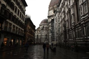Walking in Florence, Italy by LPeregrinus