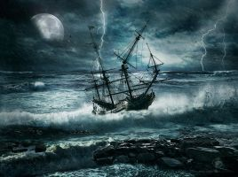 Storm At Sea by Miguel-Angel-Estevez