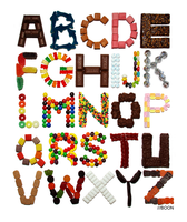 Candy Alphabet by mbaboon
