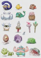 RPG monsters by saulom