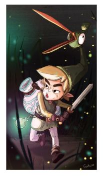 link from minish cap fanart by guitwo2000