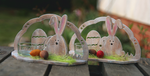 Easter Bunnies ~ Candle holder by ginkgografix