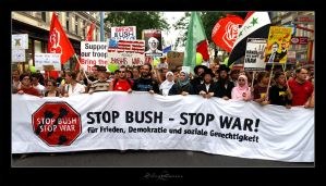 Stop Bush - Stop War by Silentwaters