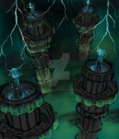 Concept: Lightning Towers by JacquelineChroma