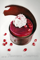 Little cake with pomegranate by 19Frency94-Art