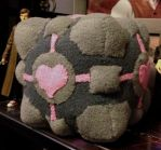 Plush Companion Cube by mistressjera