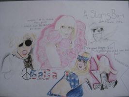 Lady Gaga Birthday prez w.i.p by megan66