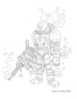 Mr. Freeze pencils by marcusmuller