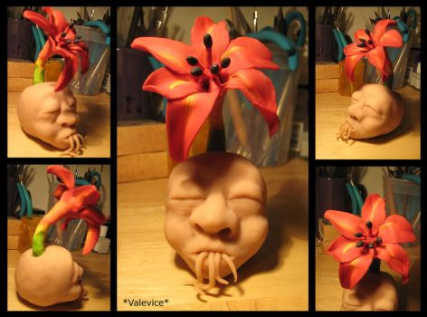 Flower Head WIP by Valevice