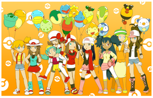 1M hits Pokemon girls by Hapuriainen