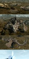 Skyrim - Meeting Alduin by Anutwyll