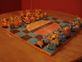 Pokemon Chess Board Set - Side by Frabulator