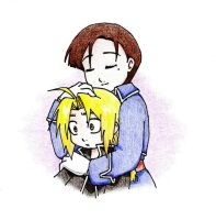 A Comforting Hug - FMA by Kjbionicle