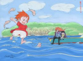 Gake no Ue no Ponyo (Ponyo on the Cliff) by N-City