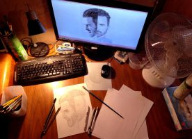 My drawing table by Arspe