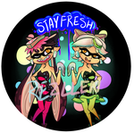 Squid Sisters Button by Rezllen