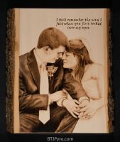 Wedding Portrait - Woodburning by brandojones