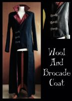 Wool and Brocade Doublet Coat by MurielTailorcraft