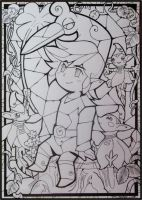MC Stained Glass - lineart by MichelleWalker