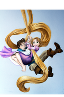 Rapunzel and Flynn by brittanykaye92