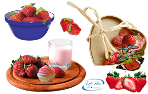 Strawberries - PNG by lifeblue