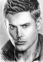 Jensen Ackles miniature by whu-wei