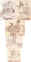 Brickleberry Sketchdump by Efalt