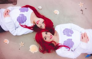 Twin Ariel on the beach by Asimagic