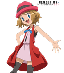 Serena pokemon render by hitsuhinabby