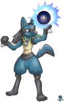 GamefreakDX as Lucario by GamefreakDX