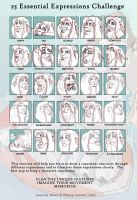 25 Essencitial Expressions Challenge by HavickTheLion