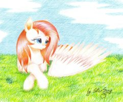Lying on the grass by SkyAircobra