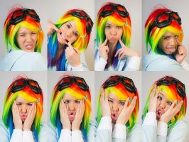 Rainbow Crahs by LexiStrife
