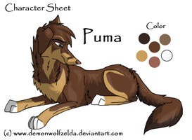 Puma Reff Sheet by DemonWolfZelda