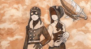 Concept Art for Unnamed Steam Punk Short Film by RoxyRoo
