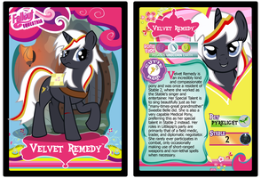 Velvet Remedy Trading Card by RinMitzuki