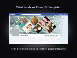 Velvet Facebook Cover Template by xara24