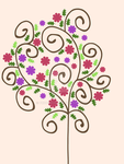 Flower Tree Print by Proudmoon