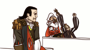 GIF - TANGO with Ezio and Leonardo. by LegolasxAragorn