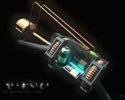 Half-Life XVL 1456 Tau Cannon by Snowfall-The-Cat