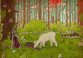 The deer forest by Mummy-fei