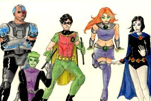 Teen Titans by menakaren