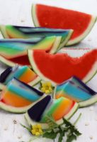 Twisted Rainbow (watermelon lemon jello) by theresahelmer
