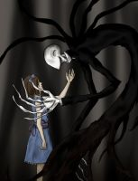Slenderman and Girl by NinjaDragon3